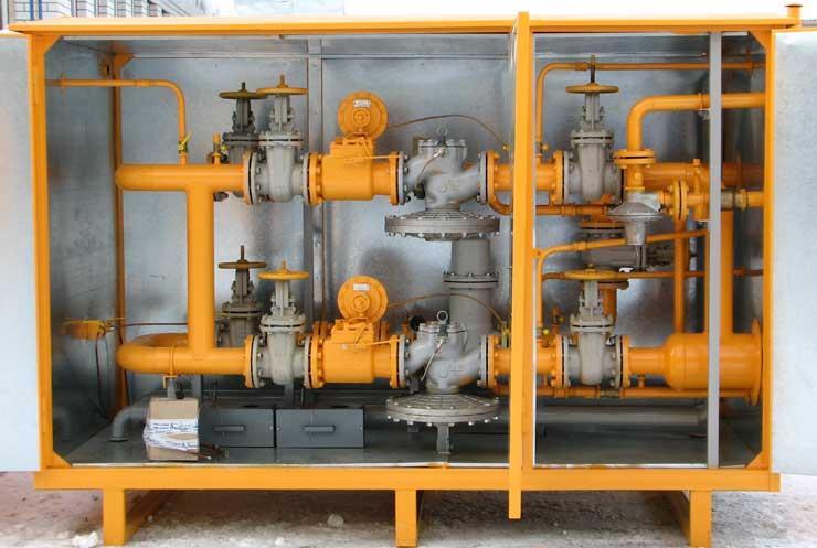 УГРШ(К)-50НВ-2 с четырьмя прямоточными регуляторами давления газа